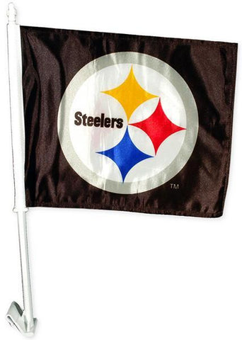 FLST01 Car Flag Pittsburgh Steelers