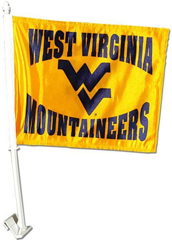 FLWU01 Car Flag West Virginia University
