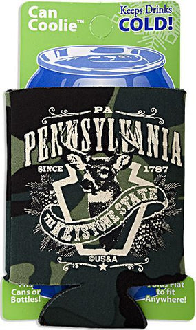 FMPA1 Foam Can Cooler Camo Pennsylvania Deer