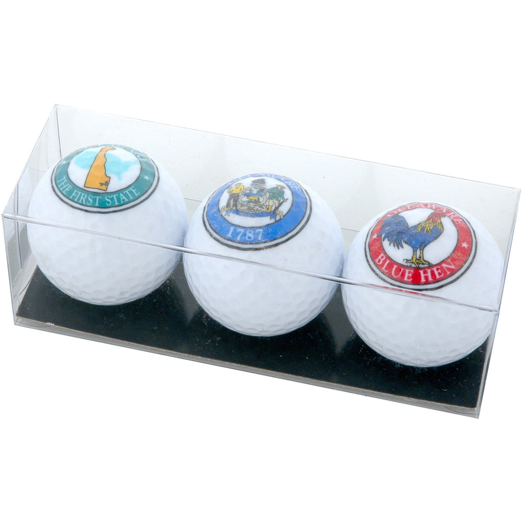 GBDE1 Golf Balls 3-Pack DE Map Crest Blue Hen