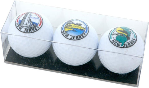 GBNJ1 Golf Balls Boxed 3-Pack NJ Lighthouse Beach Map