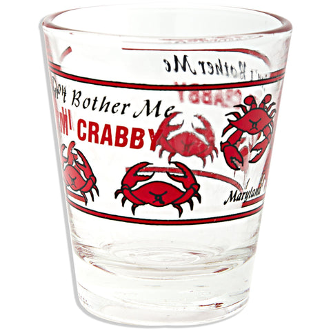 Shot Glass I'm Crabby Wrap with 5 Crabs