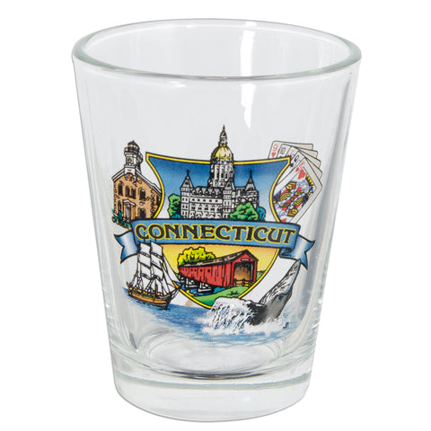 GLCT10 Shot Glass - Connecticut Montage