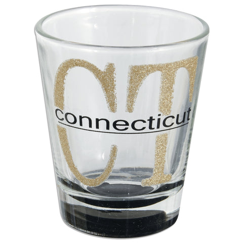 GLCT11 Glitter Shot Glass - Connecticut CT