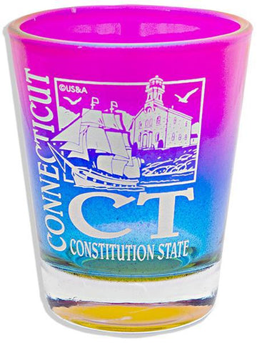 GLCT13 Rainbow Shot Glass - Connecticut CT
