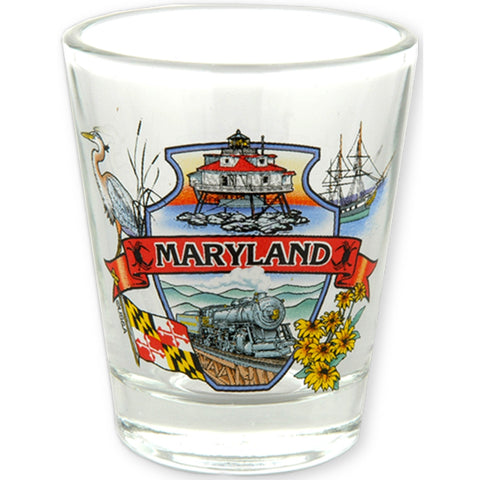 GLMD03 Shot Glass Clear Montage Maryland