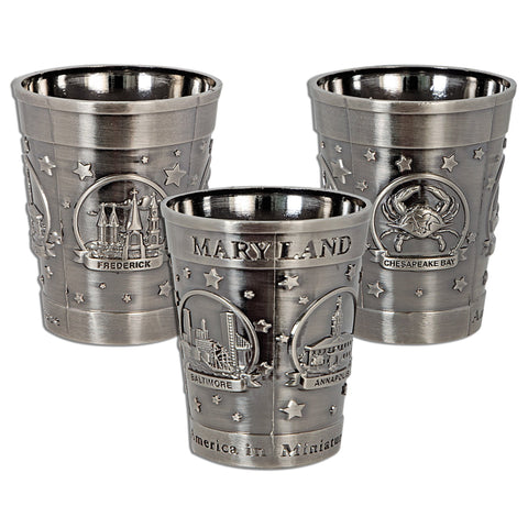 GLMD30 Shot Cup Pewter Maryland