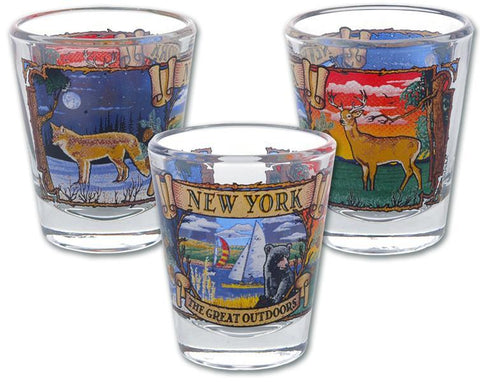 GLNY14 Shot Glass The Great Outdoors New York
