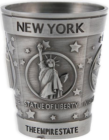 GLNY19 Shot Cup Pewter New York