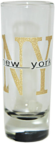 GLNY23 4 Shooter Glitter NY New York with Color Bottom