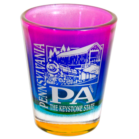 GLPA02 Rainbow Shot Glass - Pennsylvania PA