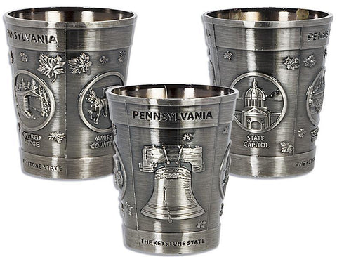 GLPA05 Shot Cup Pewter Pennsylvania