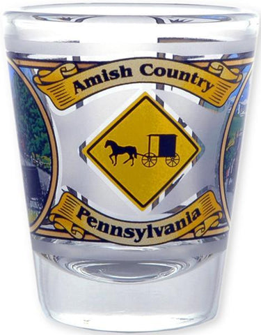 GLPA07 Shot Glass Amish Country Pennsylvania