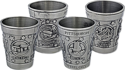 GLPG11 Shot Cup Pewter Pittsburgh