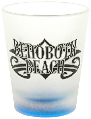 GLRB03 Shot Glass Frosted Tribal Rehoboth Beach