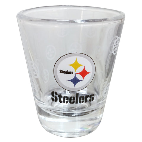 GLST01 Shot Glass Satin Etch Pittsburgh Steelers