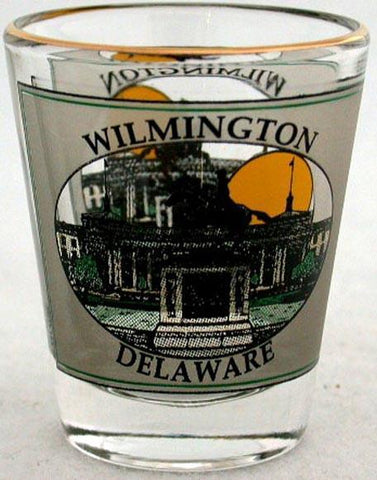 GLWD01 Shot Glass with Gold Wilmington Ovals