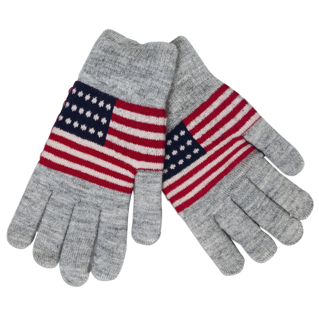 GVUS01 Knit Gloves - USA GREY
