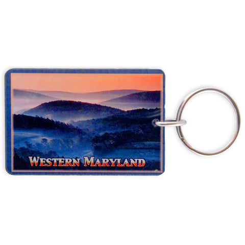 KRMD41 Key Ring Thick Lucite Western Maryland