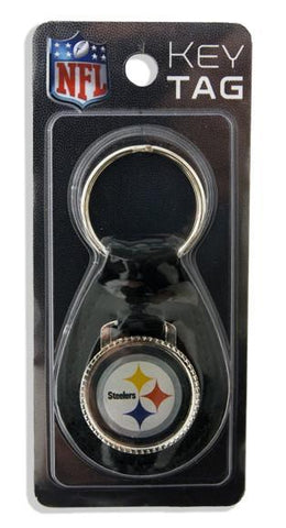 KRST01 Key Ring Leather Fob Steelers