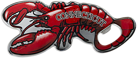 MGCT01 Bottle Opener Magnet Lobster with Connecticut