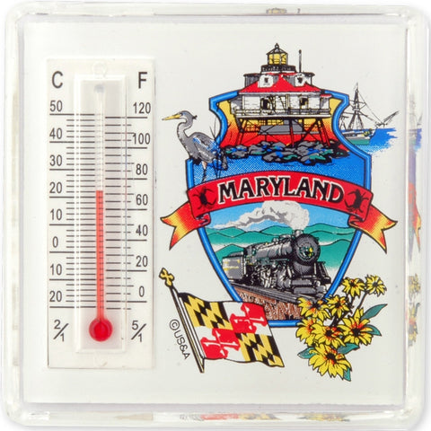 MGMD08 Thermometer Magnet Lucite Maryland Montage