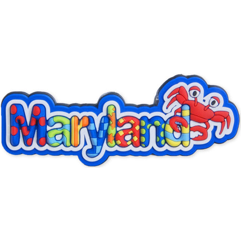 MGMD10 Magnet Raised Word Maryland