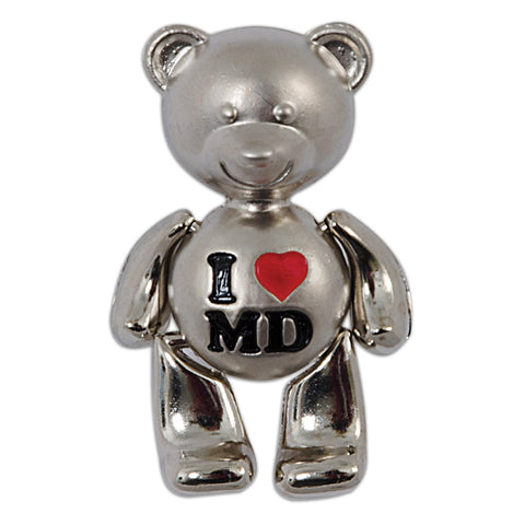 MGMD19 Magnet Moving Teddy Bear MD with Heart