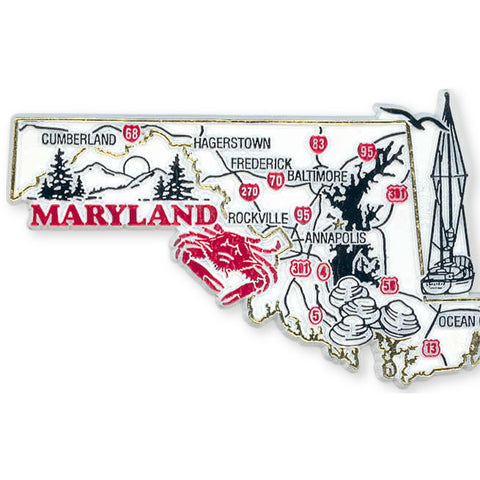 MGMD22 Rubber Magnet Large Maryland Map