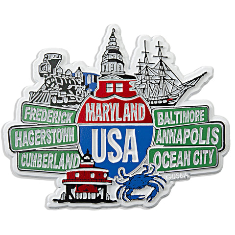 MGMD24 Rubber Magnet Large Maryland Signs