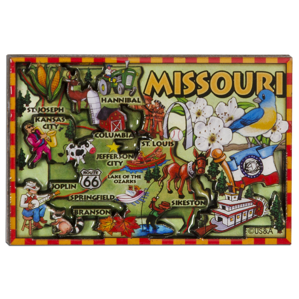 MGMO88 Dual Level Epoxy Magnet - Missouri Map