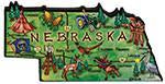 Magnet - Large Artwood - Nebraska Map
