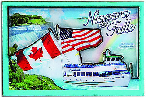 MGNF02 Dual Level Epoxy Magnet - Niagara Falls Photos