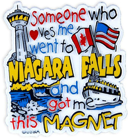 MGNF21 Rubber Magnet Large Niagara Falls Someone Loves Me