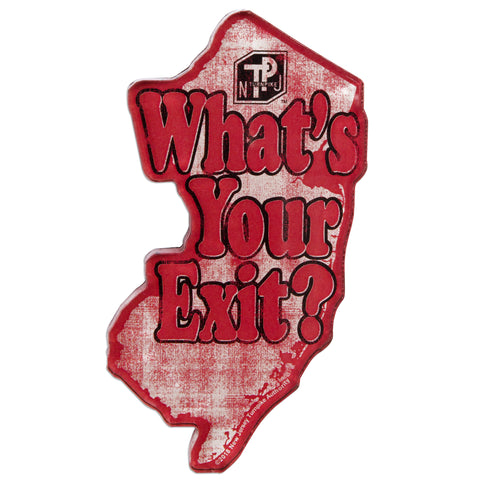 MGNJ32 Thick Lucite Magnet - New Jersey Turnpike What's Your Exit?