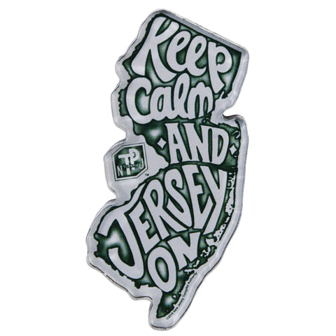MGNJ33 Thick Lucite Magnet - New Jersey Turnpike Keep Calm