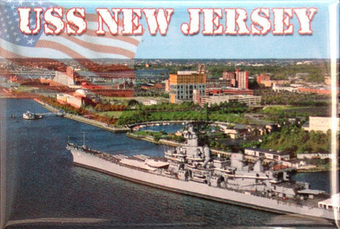 MGNJ60 Magnet Photo USS New Jersey