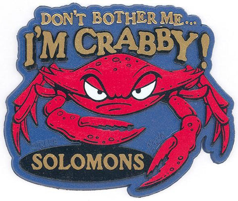 MGSI26 Rubber Magnet Large Solomons Don't Bother Me...I'm Crabby