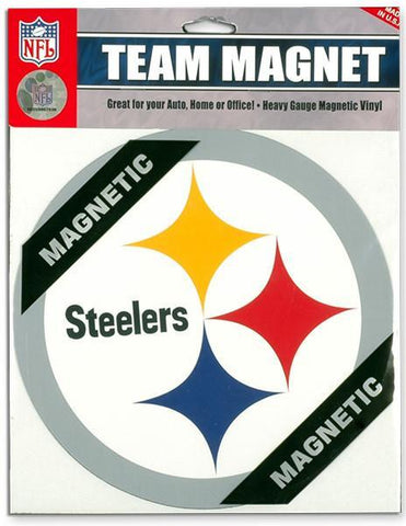 MGST02 8 inch Magnet Pittsburgh Steelers Circle