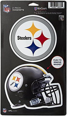 MGST04 Magnets DieCut 2Pack Pittsburgh Steelers