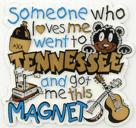 MGTN22 Rubber Magnet Large Tennessee Someone Loves Me