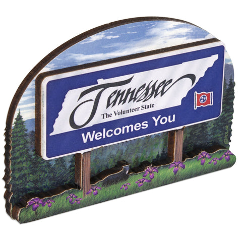 MGTN56 Magnet Bi-Level Wood Welcome Sign Tennessee