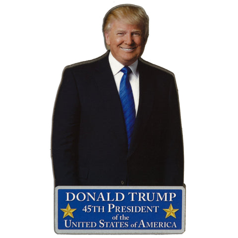 MGUS02 Wood Magnet - Large Portrait - Donald Trump 45th President