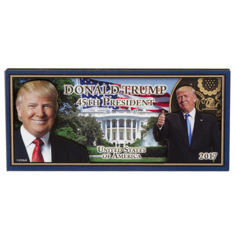 MGUS03 Wood Magnet - Rectangle - Donald Trump 45th President