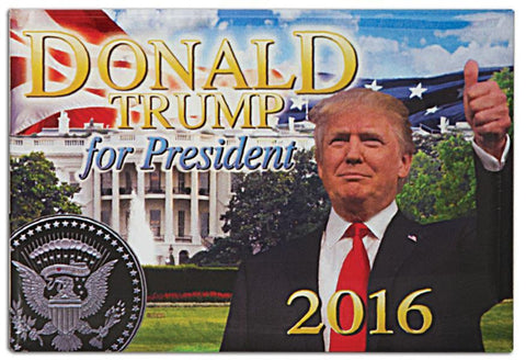 MGUS08 Magnet Photo Donald for President 2016
