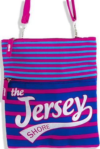 NWNJ2 Robin Ruth Neck Wallet LARGE - Jersey Shore Fuschia/Blue
