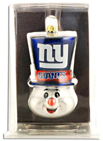 ORNG6 Ornament Top Hat Snowman NY Giants