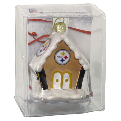 ORST2 Ornament Gingerbread House Steelers