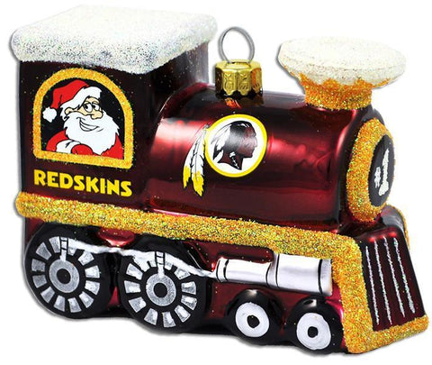 ORWR3 Ornament Glass Train Washington Redskins