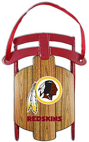 ORWR6 Ornament Sled Washington Redskins